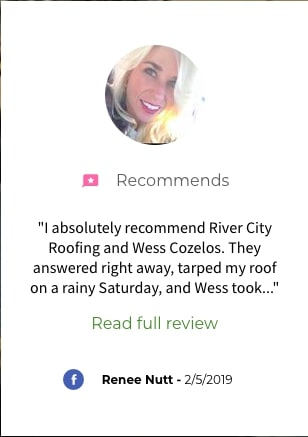 River City Roofing Solutions Roof Repair Facebook Review