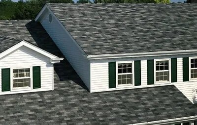 This picture shows a beautiful Architectural Shingle on a 2-story home