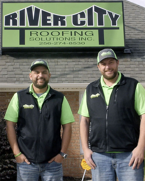 River City Roofing Solutions Roofing Company Owners Michael and Chris Muse.