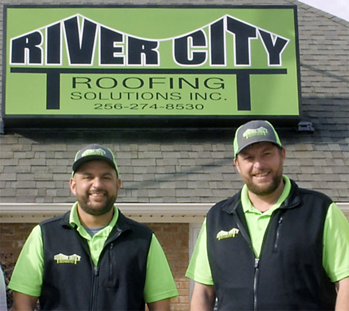 River City Roofing Solutions Owners Michael and Chris Muse.