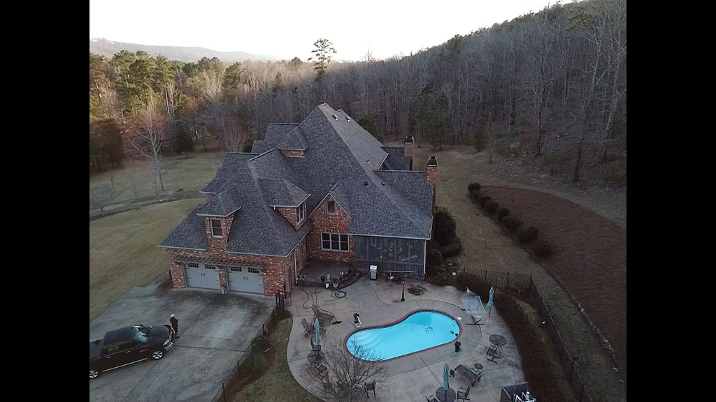 Huntsville, Al shingle roof repair by RCRS roofing company.